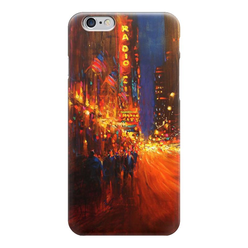 Чехол для iPhone 6 глянцевый Printio Мегаполис