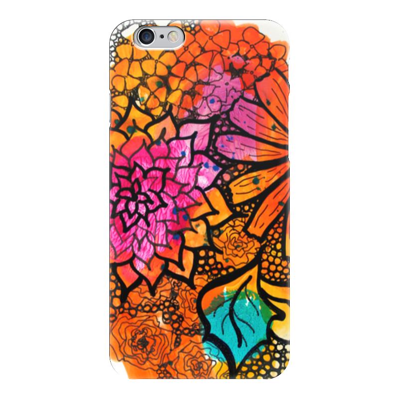 Чехол для iPhone 6 глянцевый Printio Оранжевое настроение лонгслив printio оранжевое солнце