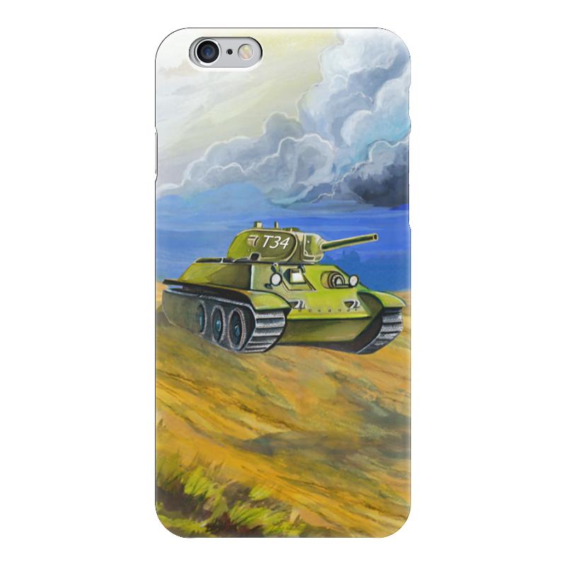 Чехол для iPhone 6 глянцевый Printio Танк т-34
