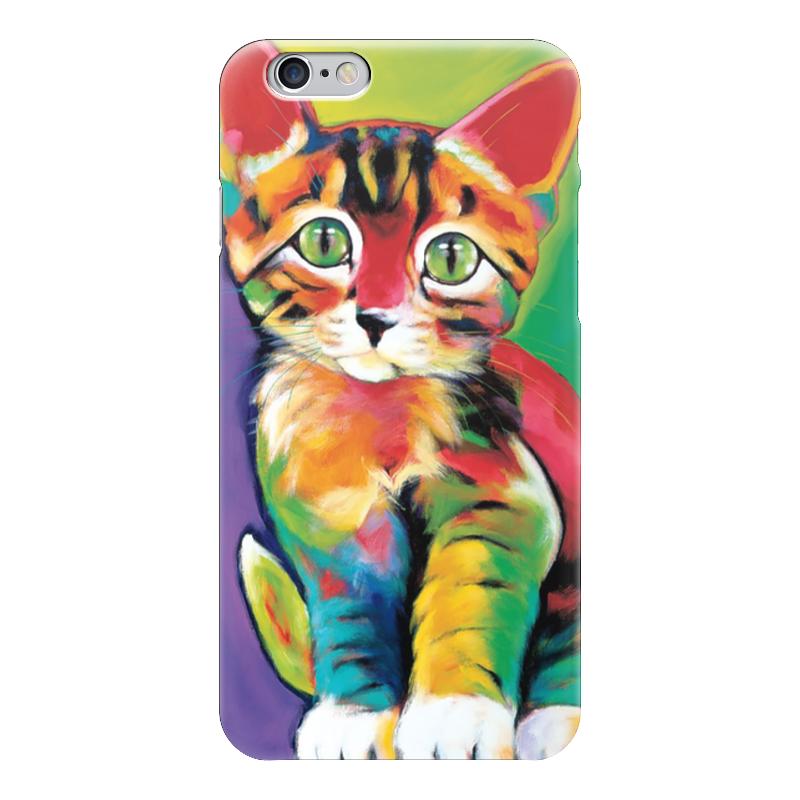 Чехол для iPhone 6 глянцевый Printio Котенок егерь последний билет в рай котенок