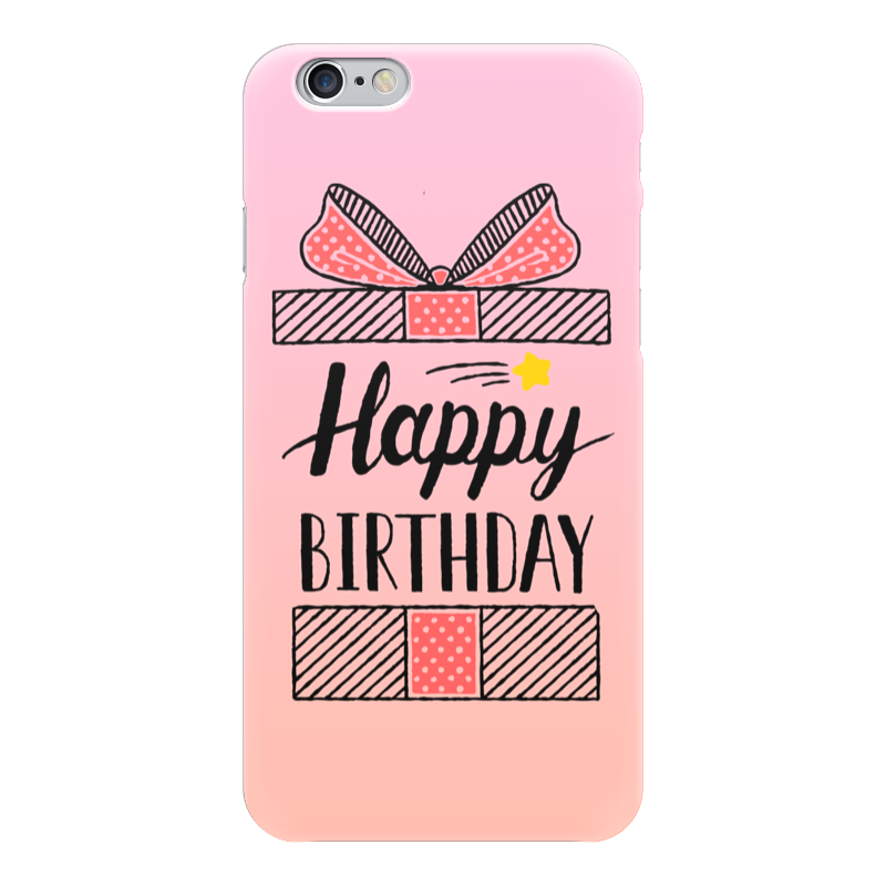 Чехол для iPhone 6 глянцевый Printio Happy birthday гирлянда happy birthday 1 6 метра