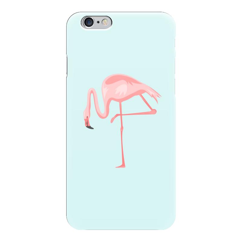 Чехол для iPhone 6 глянцевый Printio Фламинго чехол для карточек фламинго и ананас с усами дк2017 101