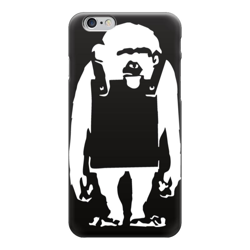 Чехол для iPhone 6 глянцевый Printio Шимпанзе с рекламным щитом чехол для iphone 5 глянцевый с полной запечаткой printio шимпанзе с рекламным щитом