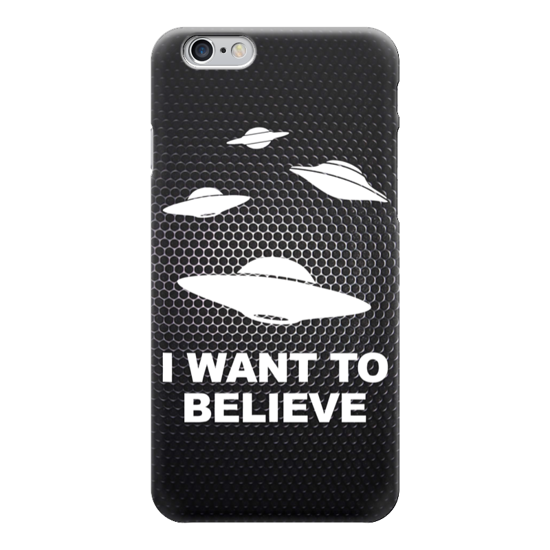 Чехол для iPhone 6 глянцевый Printio I want to believe (x-files) тетрадь на скрепке printio i want to believe рик и морти