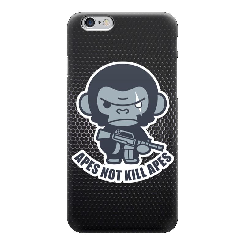 Чехол для iPhone 6 глянцевый Printio Обезьяны не убивают (планета обезьян) футболка с полной запечаткой для девочек printio планета обезьян planet of the apes