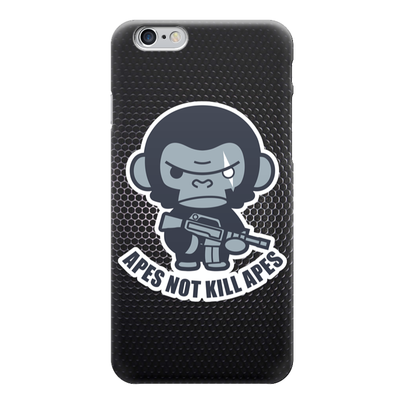 Чехол для iPhone 6 глянцевый Printio Обезьяны не убивают (планета обезьян) guano apes saarbrücken