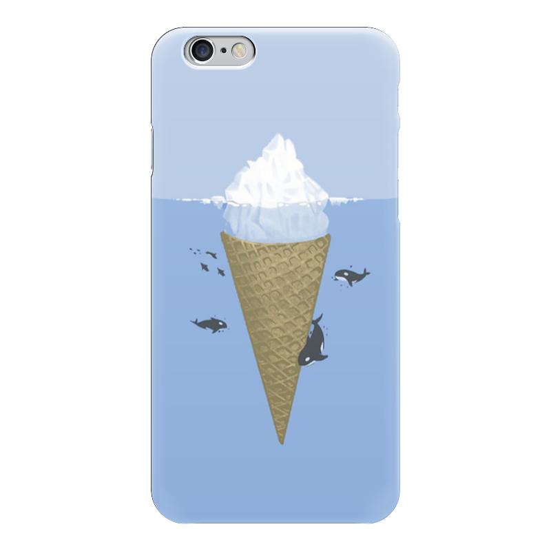Чехол для iPhone 6 глянцевый Printio Айсберг пенал для ванной айсберг волна 30 левосторонний белый