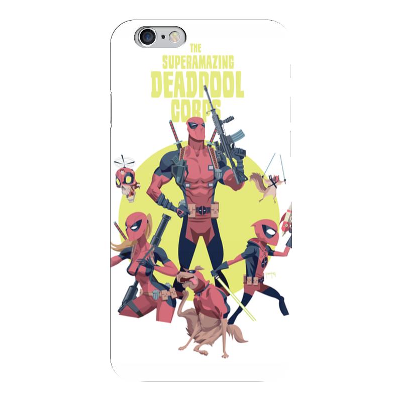 Чехол для iPhone 6 глянцевый Printio Deadpool family чехол для iphone 6 глянцевый printio deadpool family