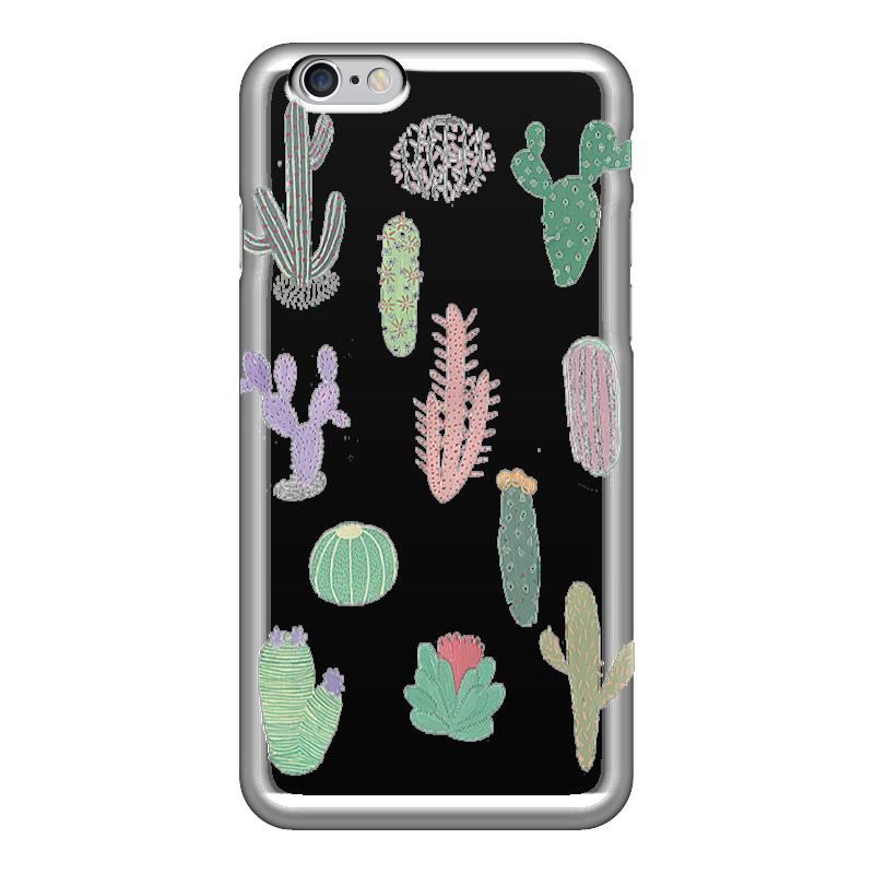 Чехол для iPhone 6 глянцевый Printio Цветные кактусы чехол
