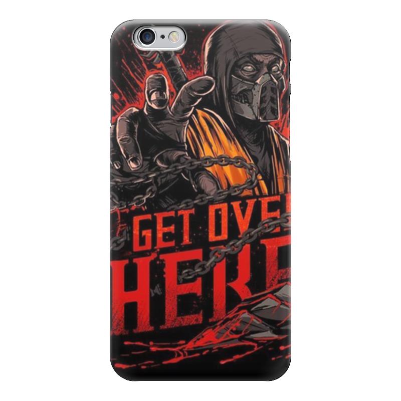 Чехол для iPhone 6 глянцевый Printio Mortal combat scorpion