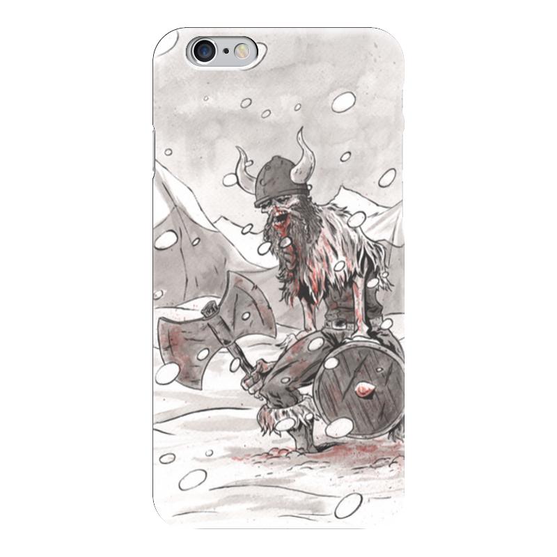 Чехол для iPhone 6 глянцевый Printio Викинг. после боя.