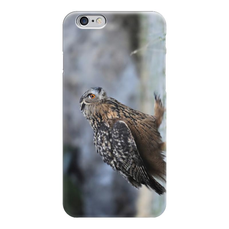 Чехол для iPhone 6 глянцевый Printio Шагающая сова