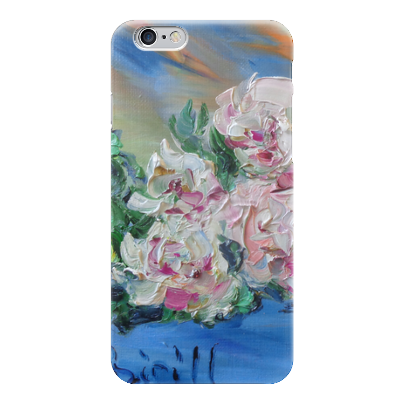 Чехол для iPhone 6 глянцевый Printio Пионы чехол для iphone 6 глянцевый printio дама в голубом картина сомова