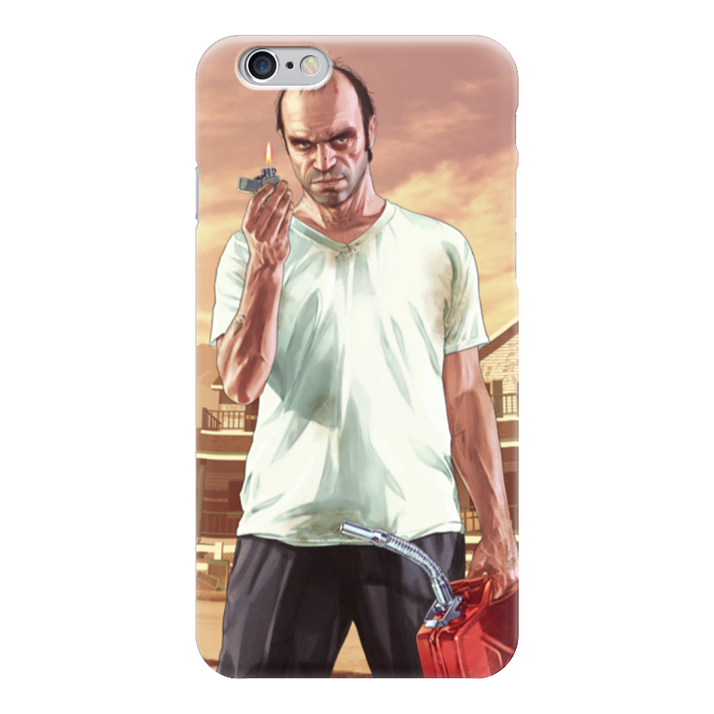 Чехол для iPhone 6 глянцевый Printio Тревор из гта футболка классическая printio тревор филипс