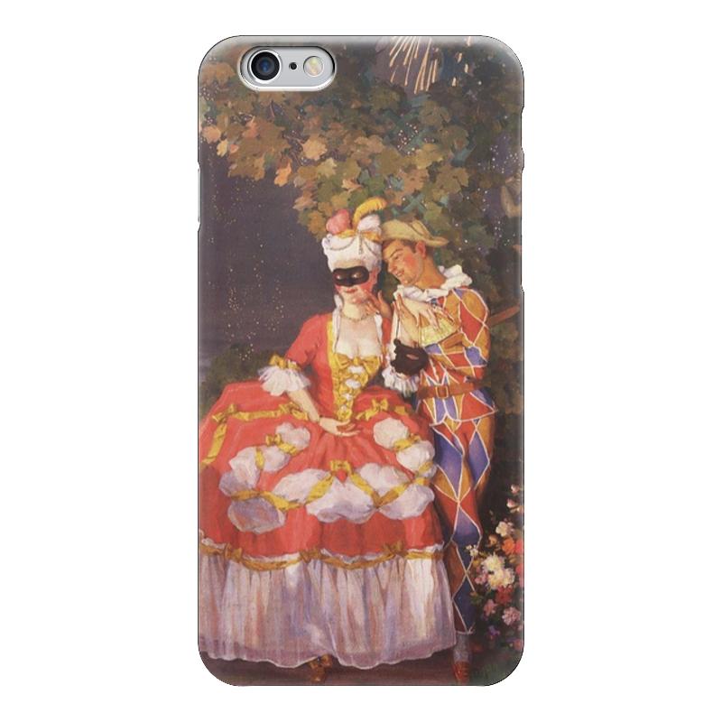 Чехол для iPhone 6 глянцевый Printio Арлекин и дама
