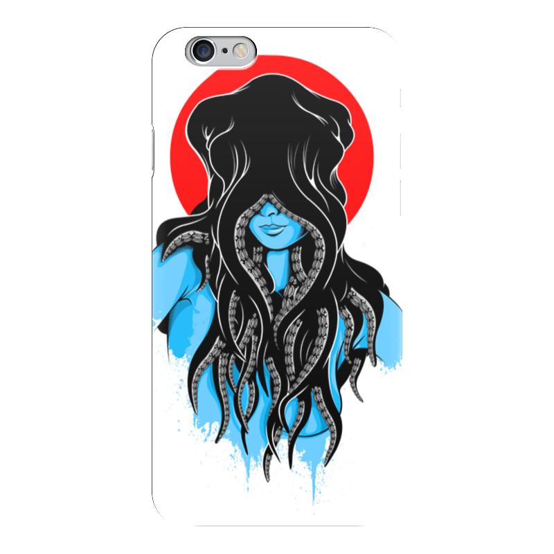 Чехол для iPhone 6 глянцевый Printio Octopushead girl чехол для iphone 6 глянцевый printio red girl