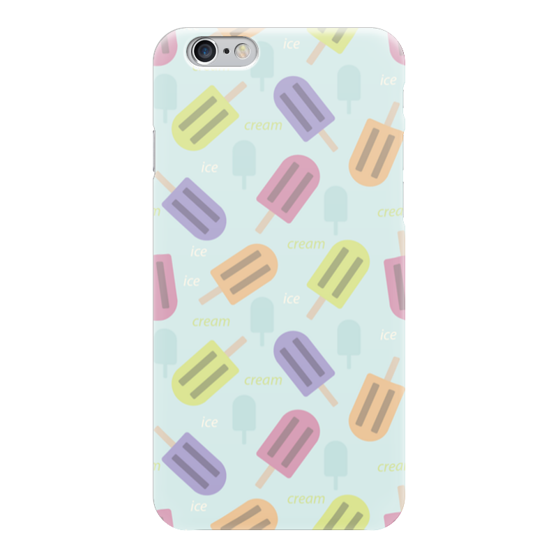 Чехол для iPhone 6 глянцевый Printio Ice-cream