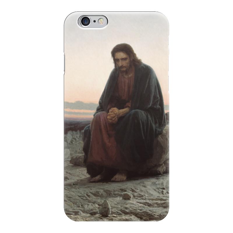 Чехол для iPhone 6 глянцевый Printio Христос в пустыне (картина крамского) вышивка бисером молящийся христос