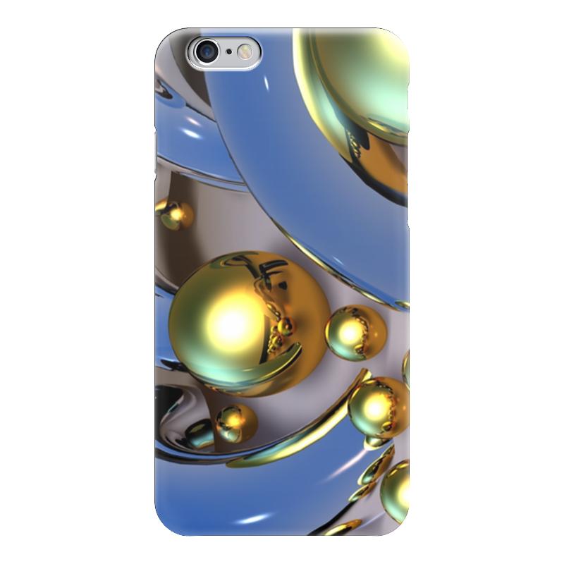 Чехол для iPhone 6 глянцевый Printio Золотые шары