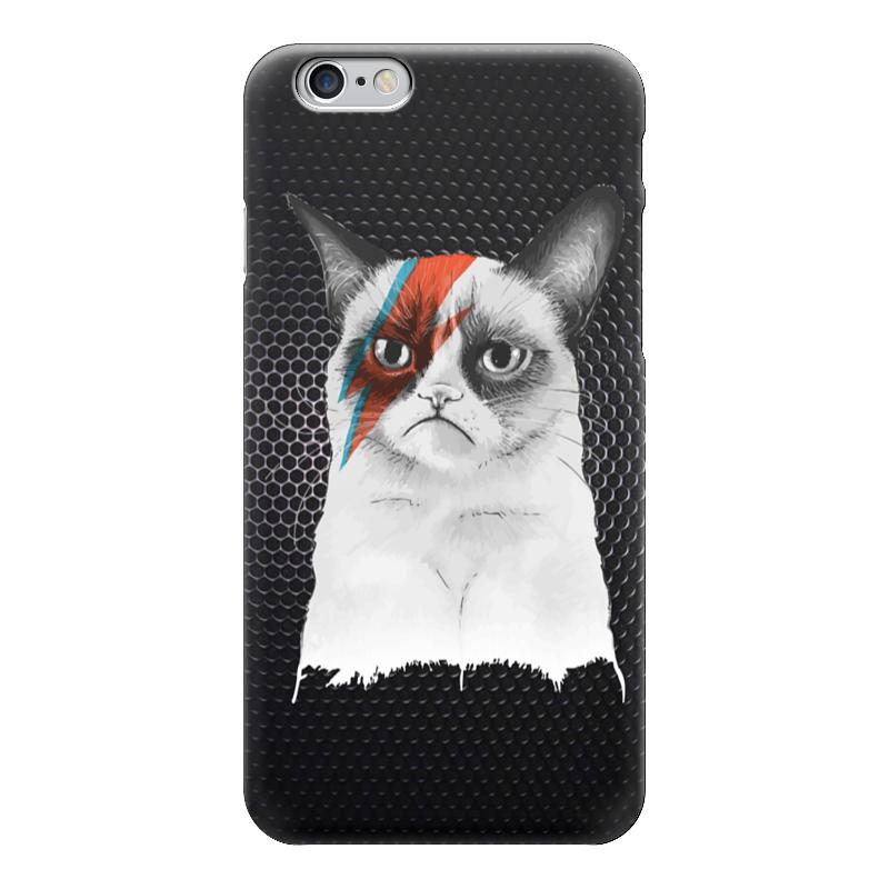 Чехол для iPhone 6 глянцевый Printio Грустный кот (grumpy cat) майка классическая printio грустный кот grumpy cat