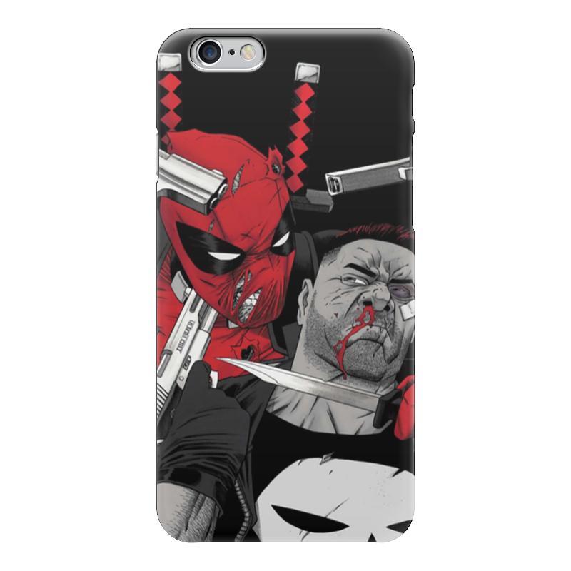 Фото - Чехол для iPhone 6 глянцевый Printio Deadpool vs punisher чехол для iphone 5 глянцевый с полной запечаткой printio deadpool vs punisher