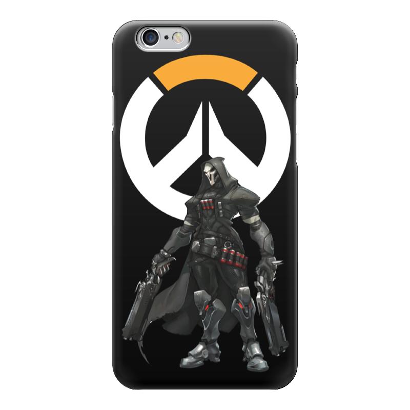 Чехол для iPhone 6 глянцевый Printio Overwatch reaper / жнец овервотч