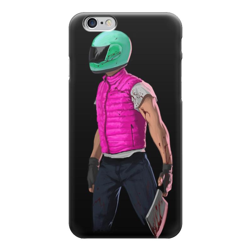 Чехол для iPhone 6 глянцевый Printio Hotline miami biker