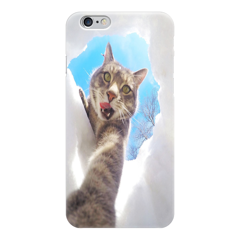 Чехол для iPhone 6 глянцевый Printio Селфи кот монопод для селфи partner 4 с проводом