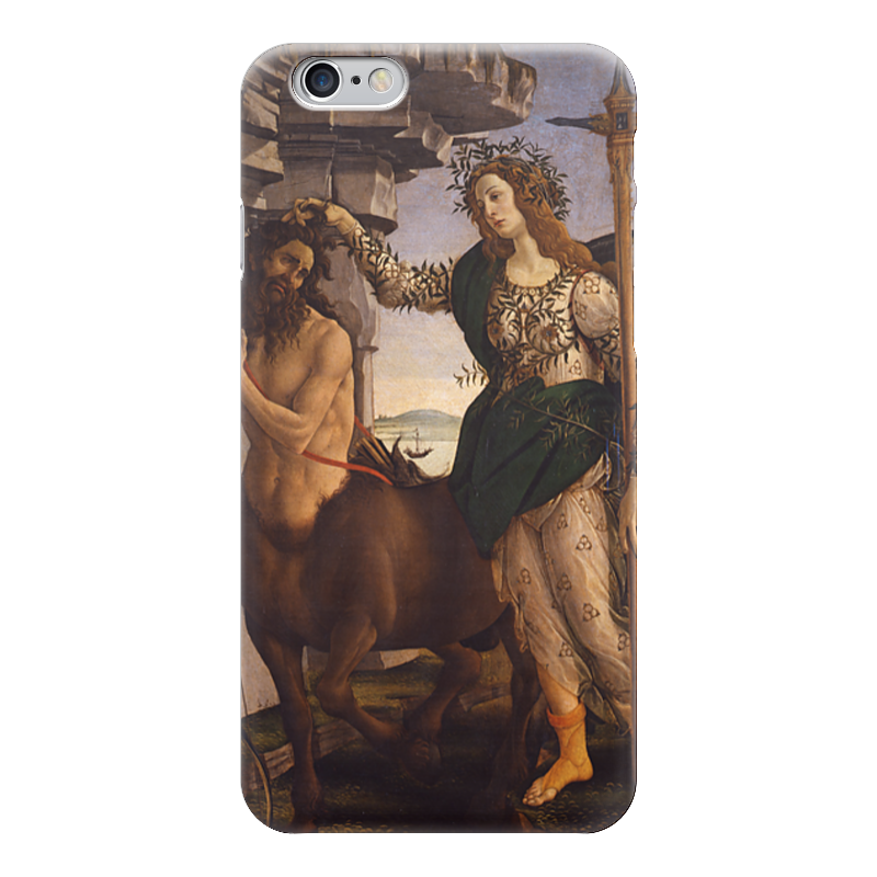 Чехол для iPhone 6 глянцевый Printio Паллада и кентавр (картина боттичелли) картина весна боттичелли