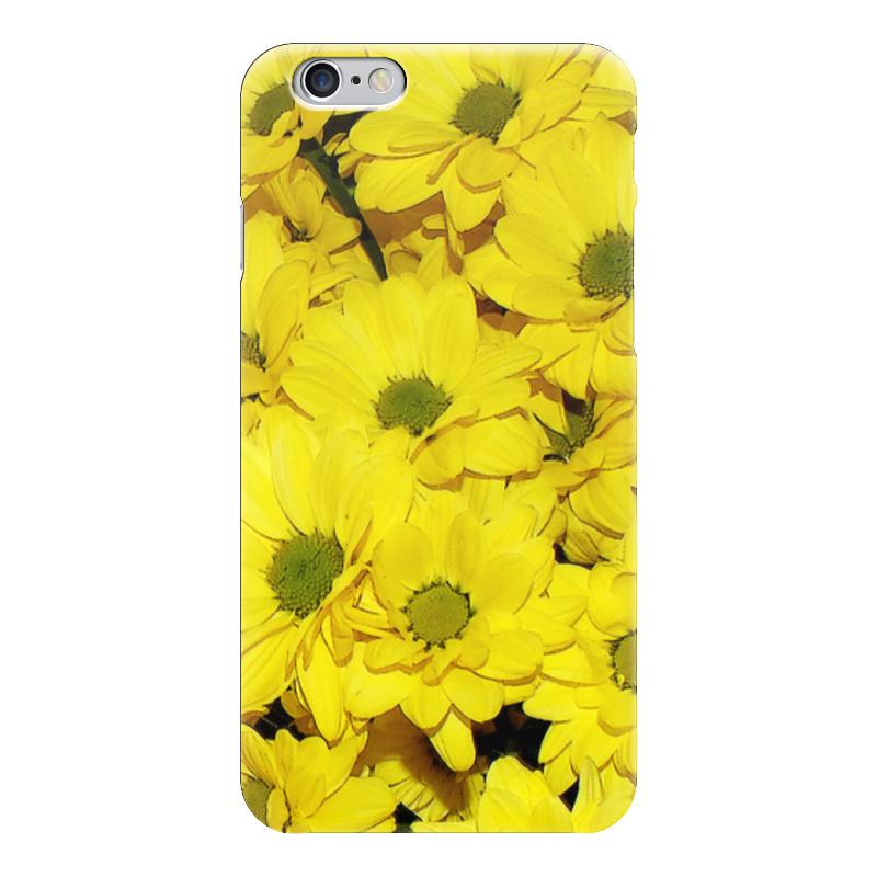 Чехол для iPhone 6 глянцевый Printio Жёлтые хризантемы татьяна шпинькова белые хризантемы