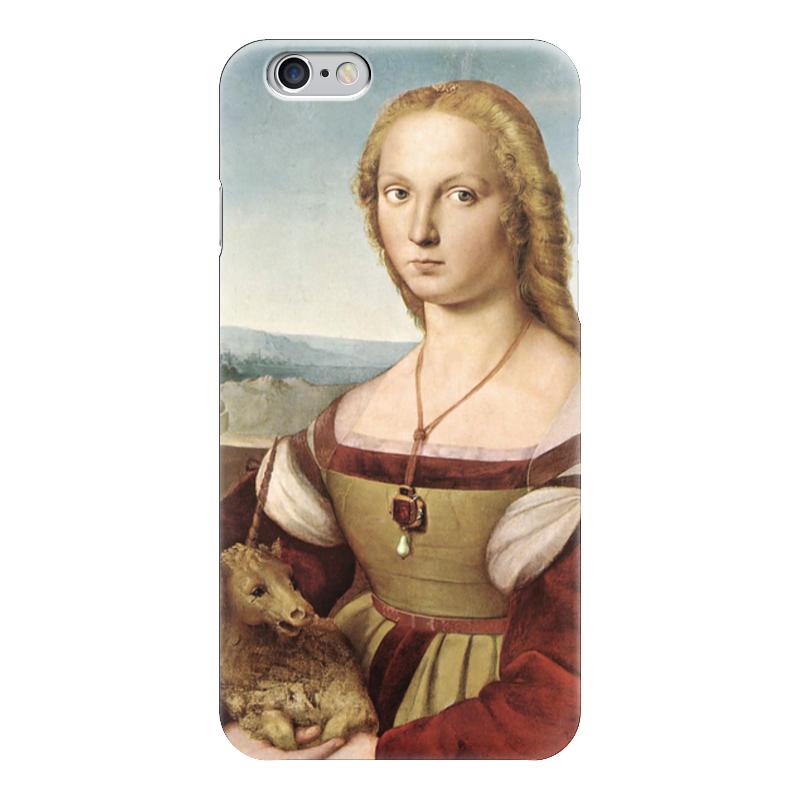 Чехол для iPhone 6 глянцевый Printio Дама с единорогом (картина рафаэля) картины pavone картина дама картина