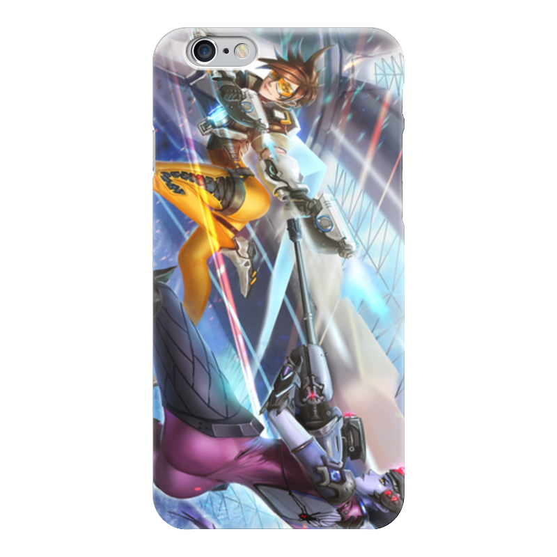 Чехол для iPhone 6 глянцевый Printio Overwatch tracer vs widowmaker