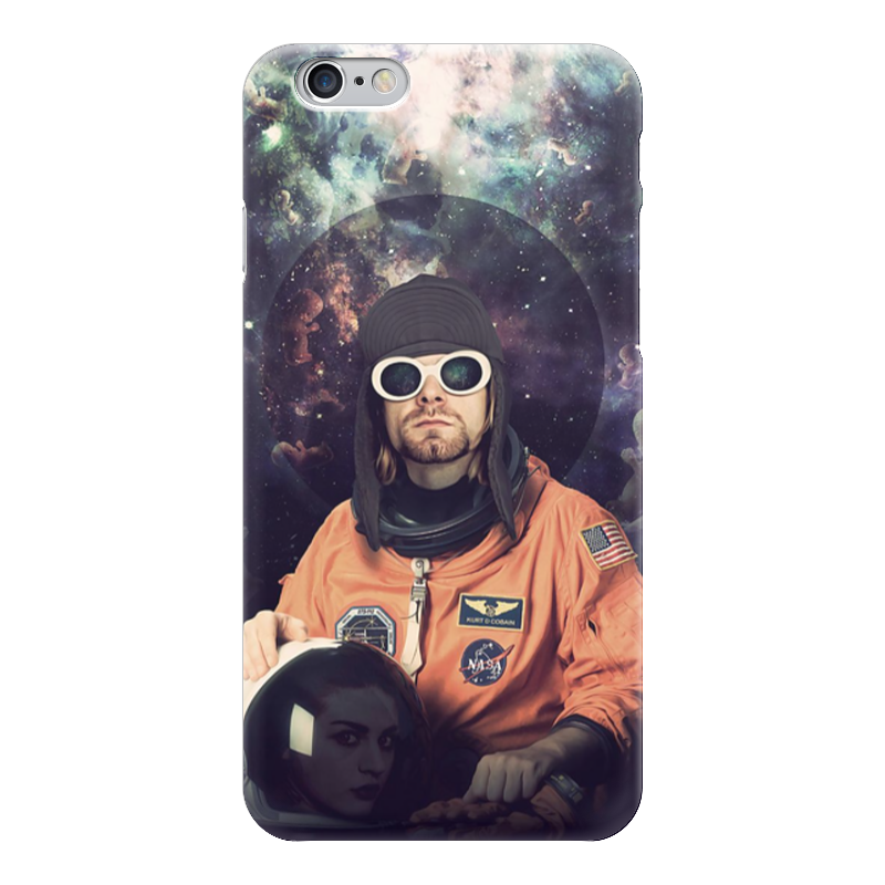 Чехол для iPhone 6 глянцевый Printio Kurt cobain astronaut сумка printio kurt cobain sounds