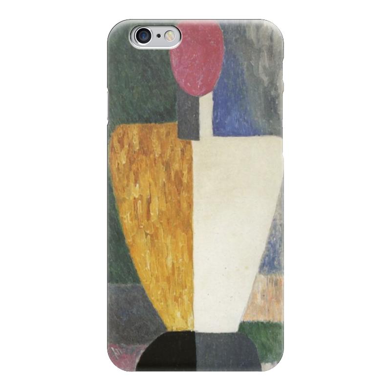 Чехол для iPhone 6 глянцевый Printio Торс (фигура с розовым лицом) (малевич) чехол для samsung galaxy s5 printio торс фигура с розовым лицом малевич
