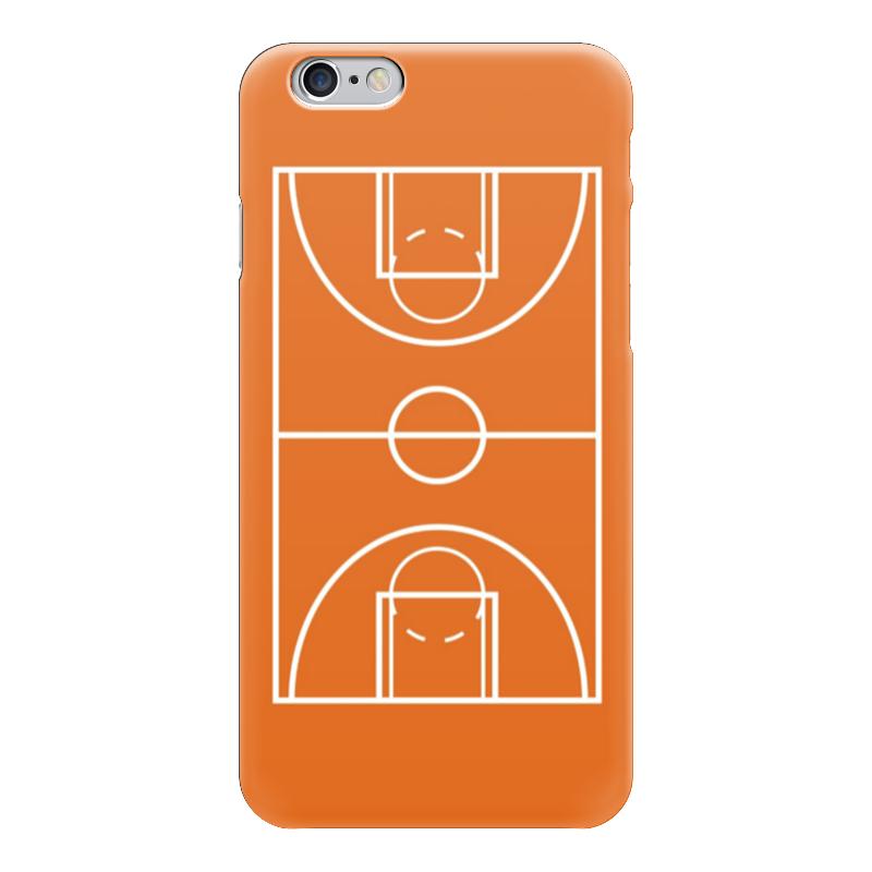 Чехол для iPhone 6 глянцевый Printio Баскетбольная площадка ферма баскетбольная