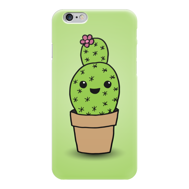 Чехол для iPhone 6 глянцевый Printio Милый кактус