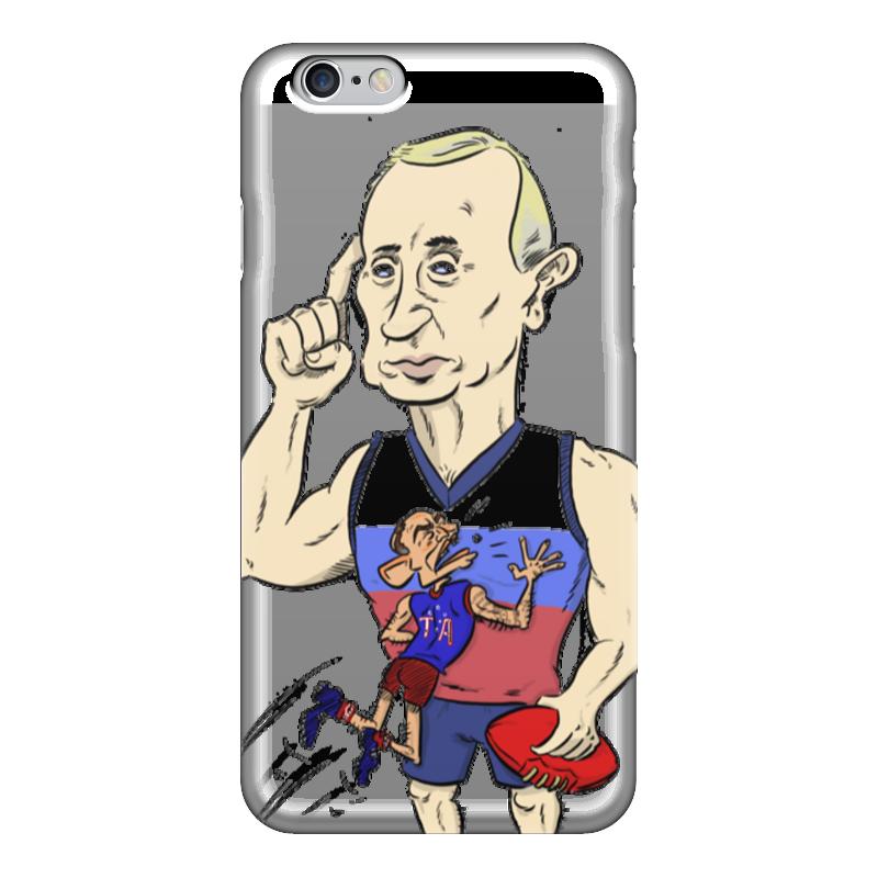 Чехол для iPhone 6 глянцевый Printio Путин и обама чехол для iphone 5 глянцевый с полной запечаткой printio beardman case