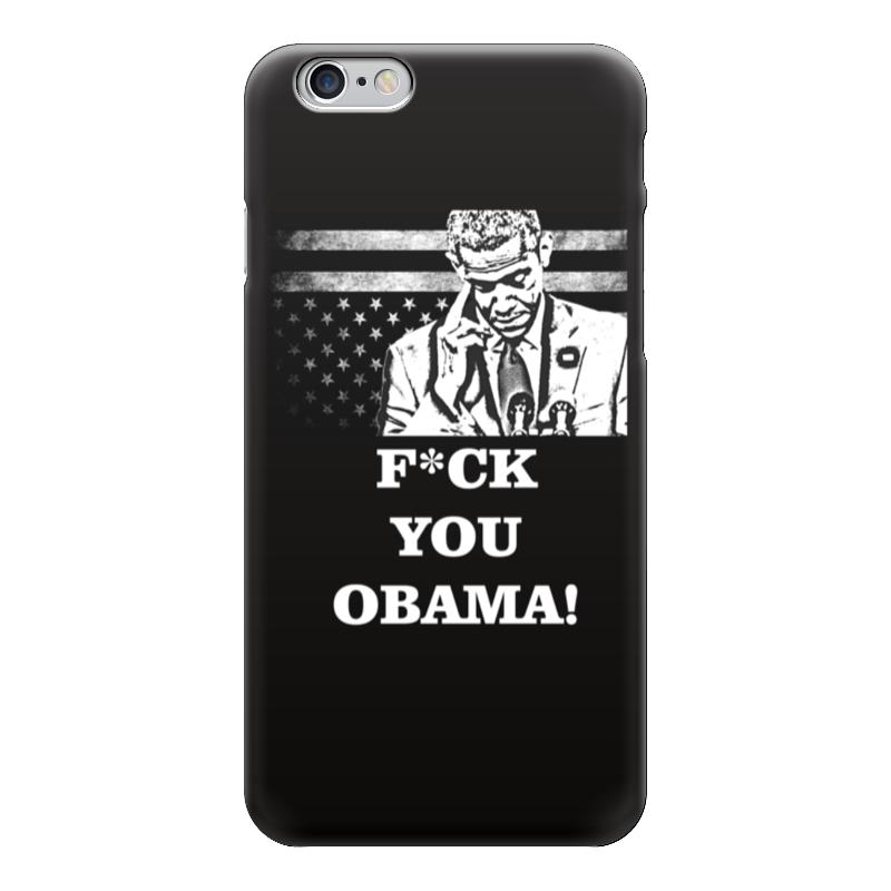 Чехол для iPhone 6 глянцевый Printio F*ck you obama! одежда для сна ck d3473
