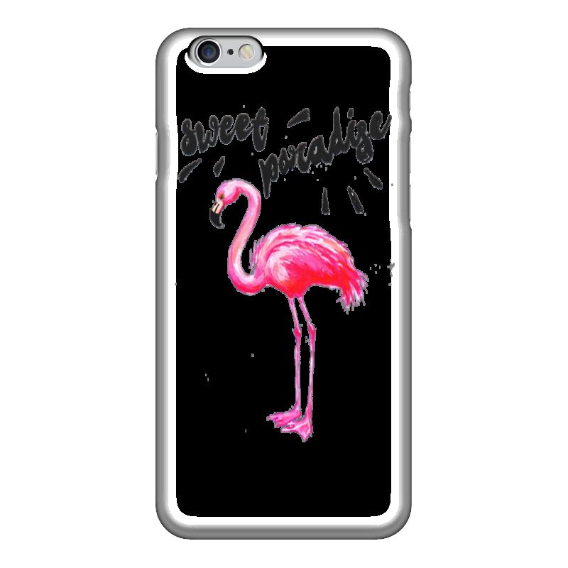 Чехол для iPhone 6 глянцевый Printio Розовый фламинго огонь в твоём сердце
