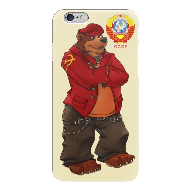Чехол для iPhone 6 глянцевый Printio Angry russian bear