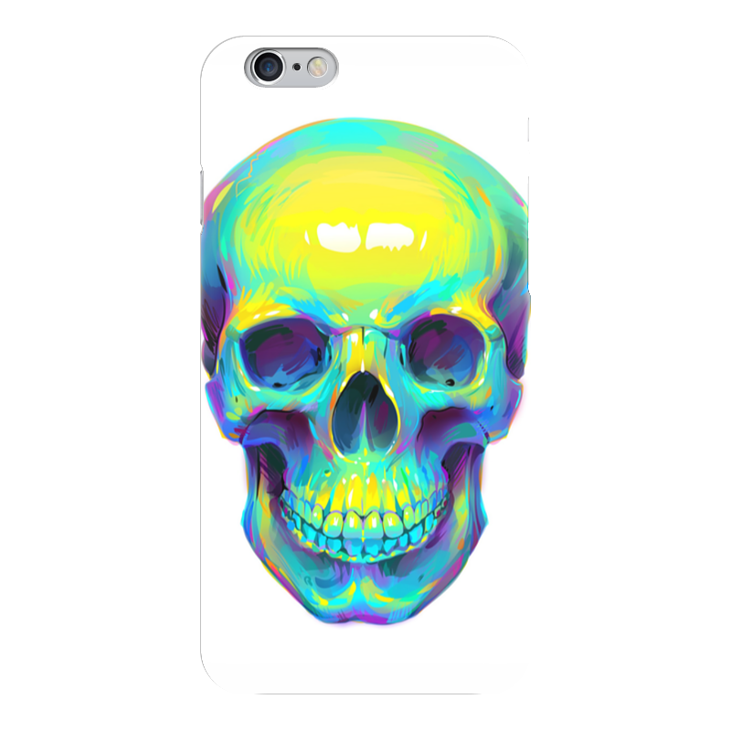Чехол для iPhone 6 глянцевый Printio Colorfull skull чехол для iphone 7 глянцевый printio skull art