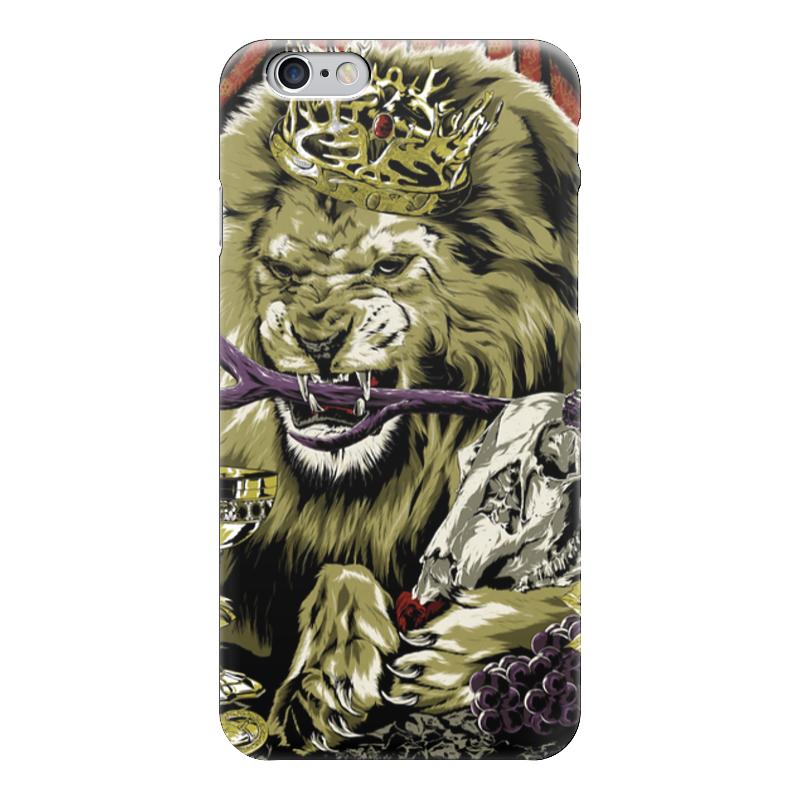 Чехол для iPhone 6 глянцевый Printio Lion with skull чехол для iphone 7 глянцевый printio skull art
