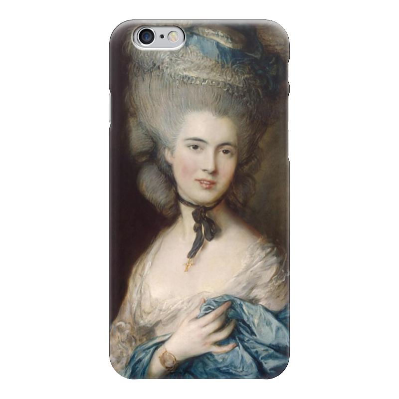 Чехол для iPhone 6 глянцевый Printio Дама в голубом (картина гейнсборо) картины pavone картина дама картина