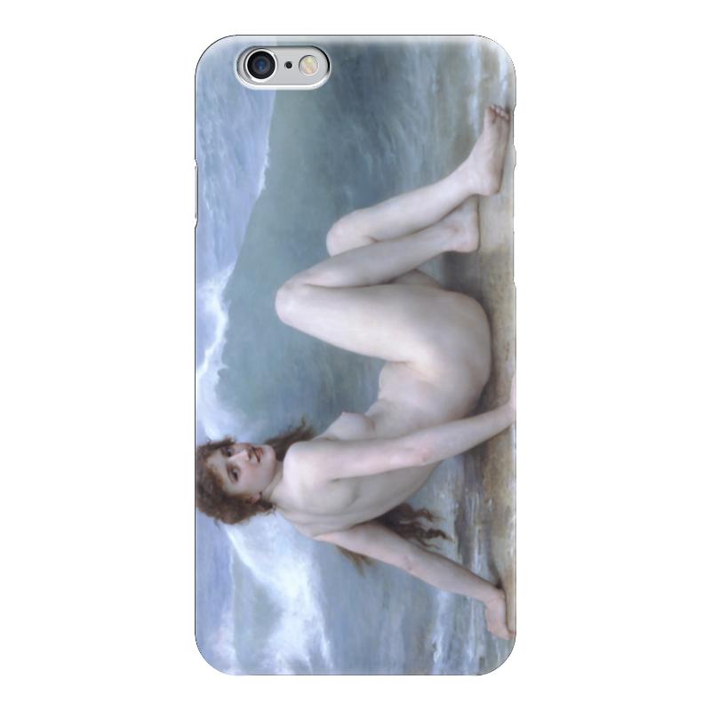 все цены на Чехол для iPhone 6 глянцевый Printio Волна (картина бугро) онлайн