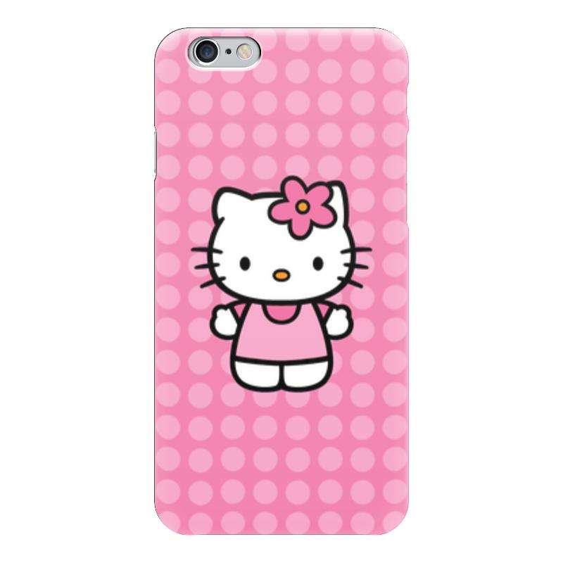 Чехол для iPhone 6 глянцевый Printio Kitty в горошек чаша горошек 2 л бел син 1150426