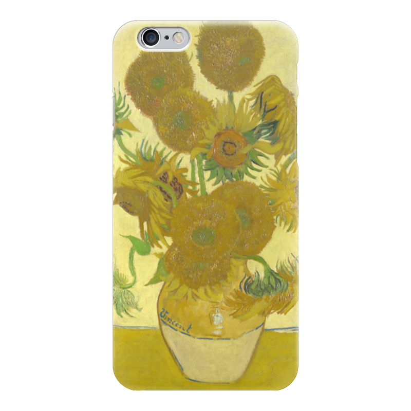 Чехол для iPhone 6 глянцевый Printio Подсолнухи (винсент ван гог) орлова маша винсент ван гог подсолнухи