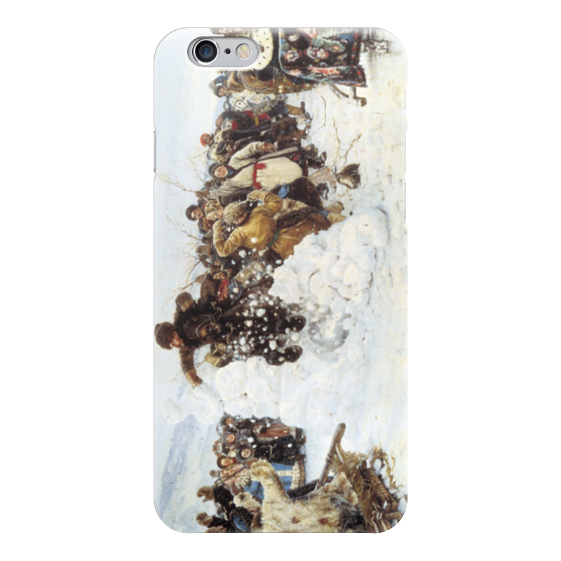 Чехол для iPhone 6 глянцевый Printio Взятие снежного городка (суриков) суриков и е гомер