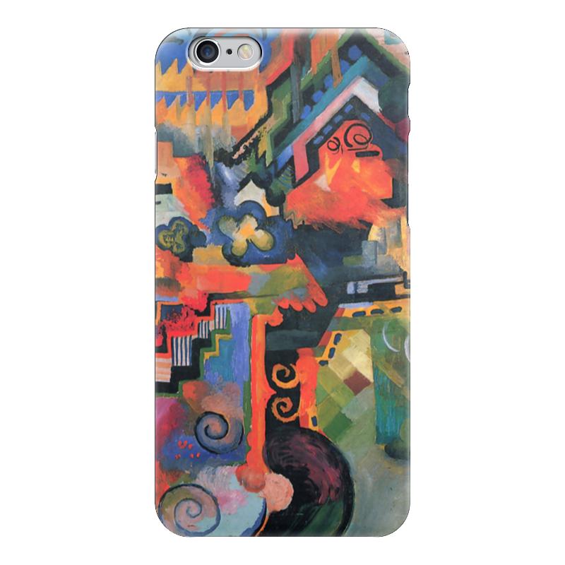 Чехол для iPhone 6 глянцевый Printio Цветная композиция  (август маке) чехол для iphone 4 глянцевый с полной запечаткой printio шляпный магазин август маке