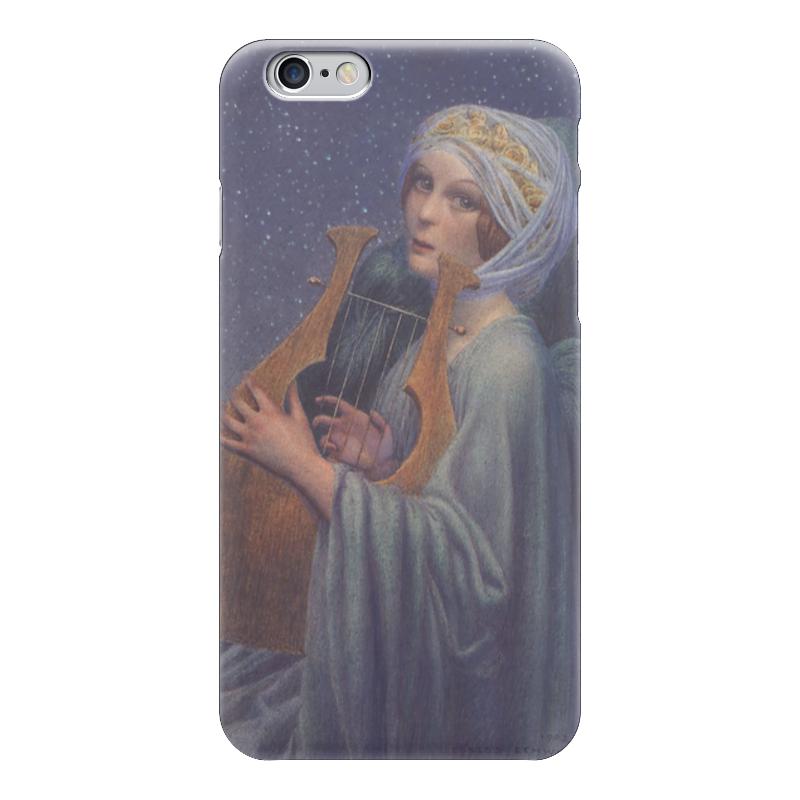 Чехол для iPhone 6 глянцевый Printio Женщина с лирой