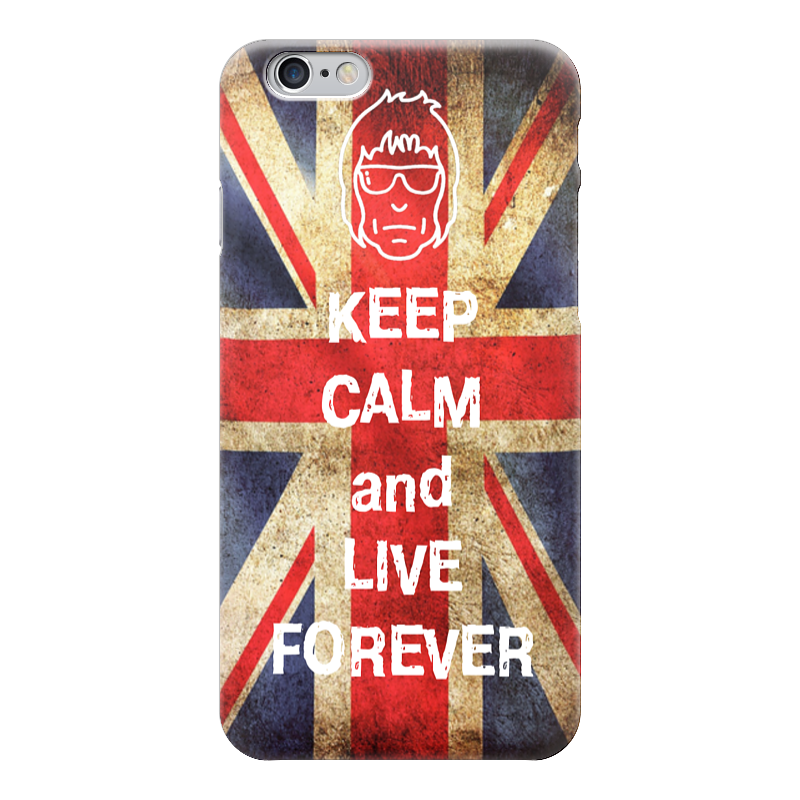 Чехол для iPhone 6 глянцевый Printio Keep calm and live forever чехол для iphone 6 глянцевый printio live long and prosper star trek